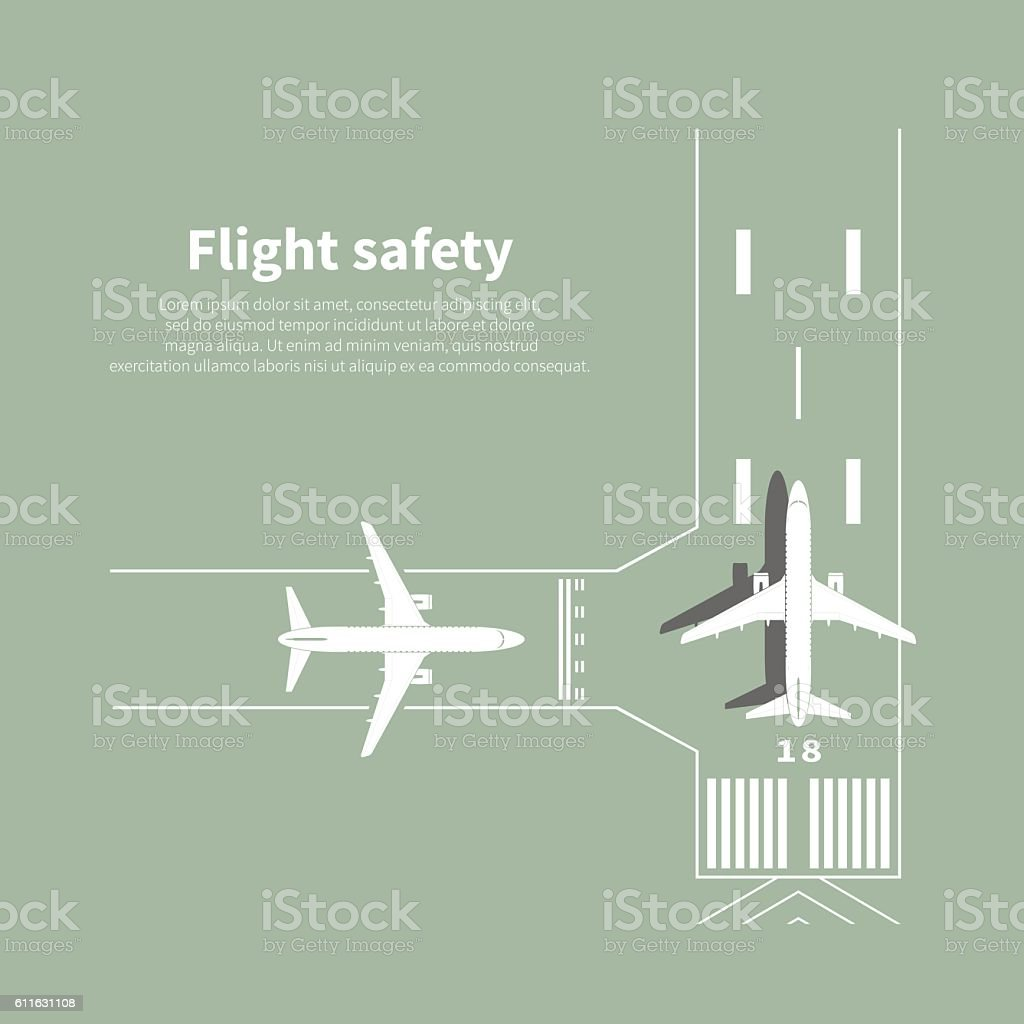 Aviation safety - Illustration vectorielle