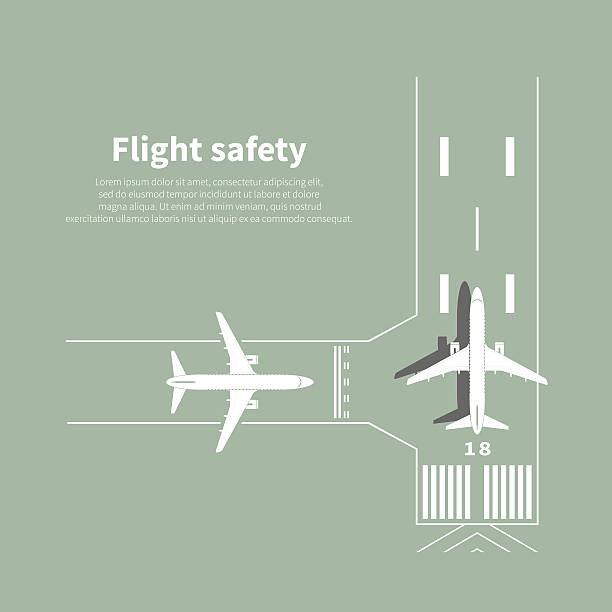 Aviation safety Aviation safety infographic. Scene 3. Vector illustration. airport stock illustrations