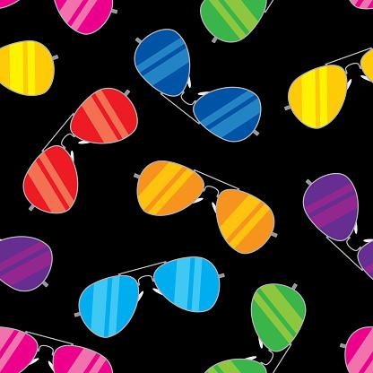 Aviator Glasses Pattern Colorful