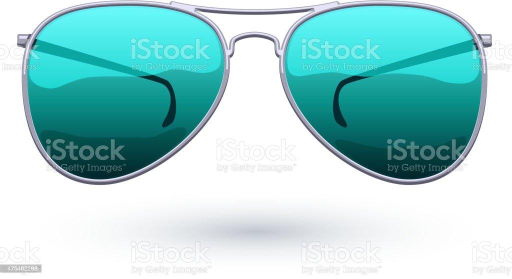 Aviator sunglasses icon fashion vector illustration vector art illustration