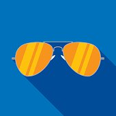 Aviator Sunglasses Icon Flat