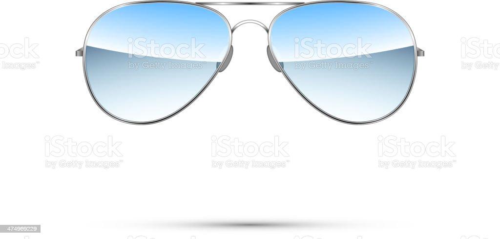 Aviator sunglasses isolated on white. Vector vector art illustration