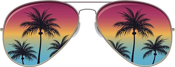 Aviator Sunglasses Aviator Sunglasses miami stock illustrations
