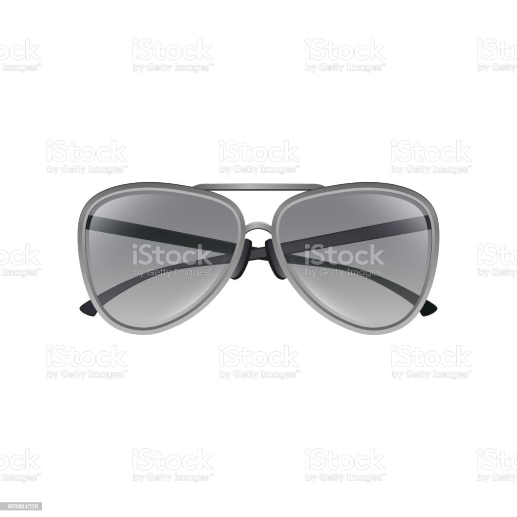 aaf2191512b8e Aviator Sunglasses With Gray Tinted Lenses Thin Metal Frame And ...