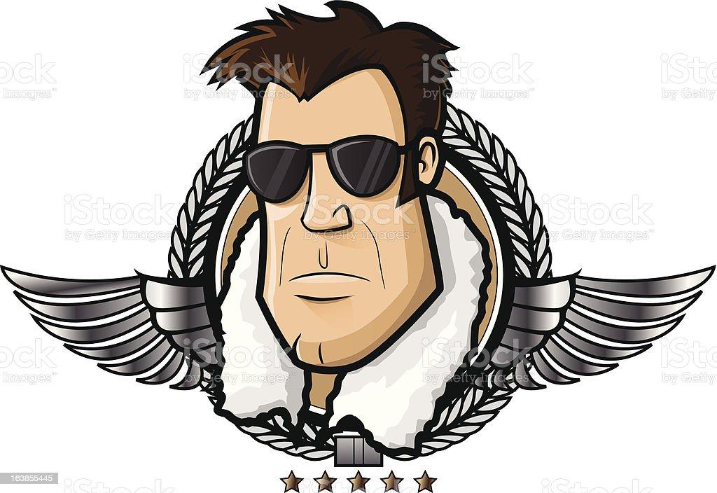 Aviator vector art illustration