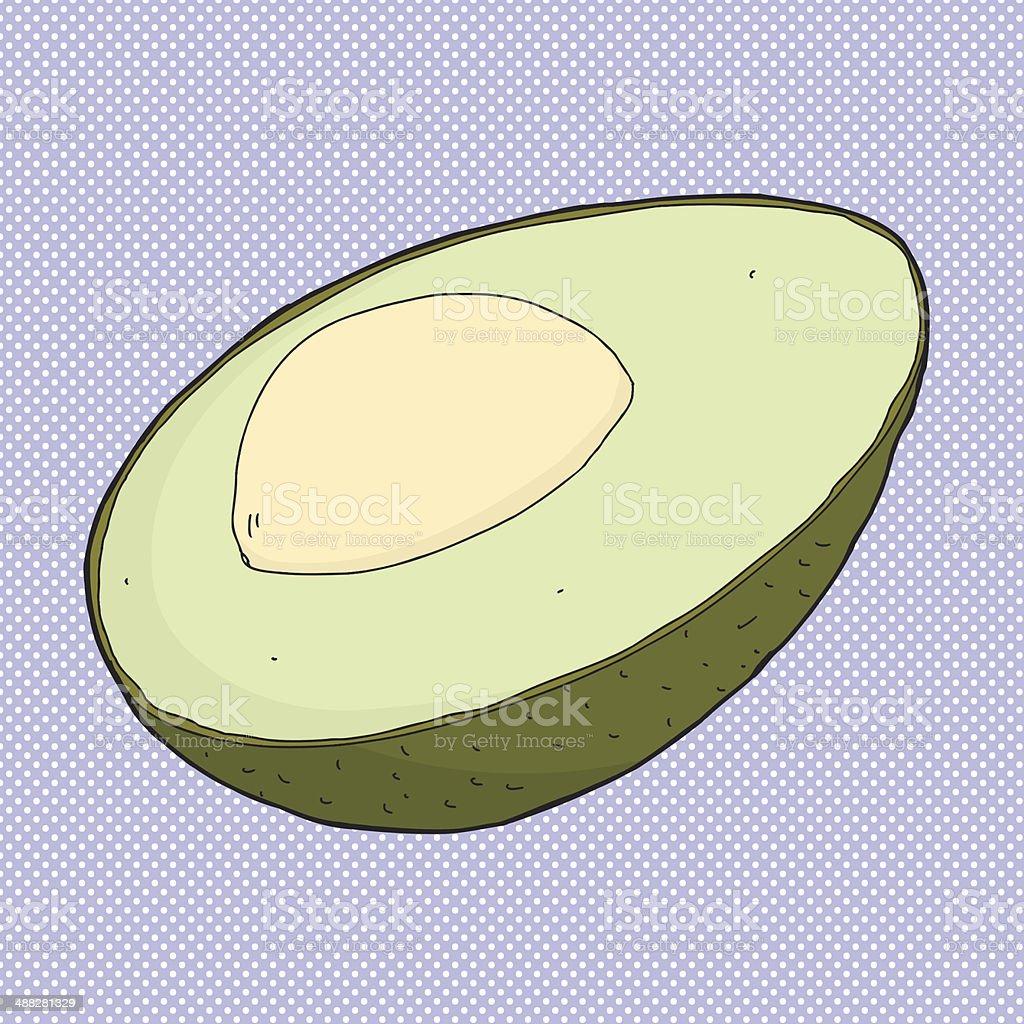 Avocado Cartoon Stock Vector Art More Images Of 488281329 Avocadoseeddiagram1 Royalty Free Amp