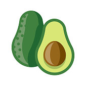 Avocado Flat Design Fruit Icon