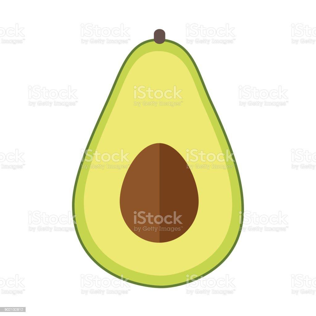 avocado Flat Design vector art illustration