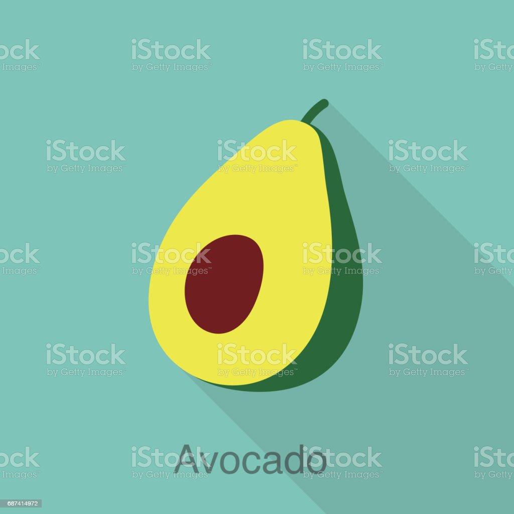 Série de fruits avocat icône plate, illustration vectorielle - Illustration vectorielle