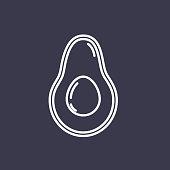 A thin line icon in a fruit theme. Avocado.