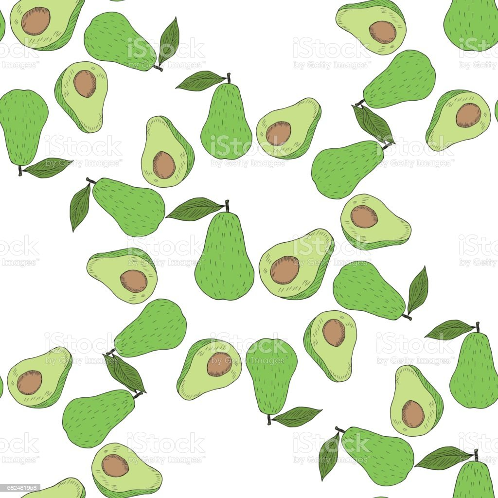 Avocado in color, seamless 3 royalty-free avocado in color seamless 3 stock vector art & more images of avocado