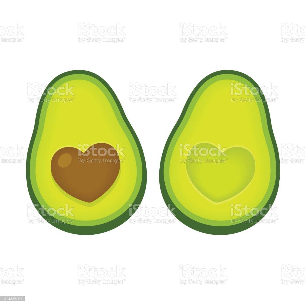 Ilustración de amor aguacate - ilustración de arte vectorial