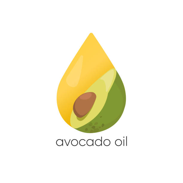 Avocado oil vector logo. Packaging design element and icon. Healthy vegan food. Avocado oil vector logo. Packaging design element and icon. Healthy vegan food. avocado clipart stock illustrations