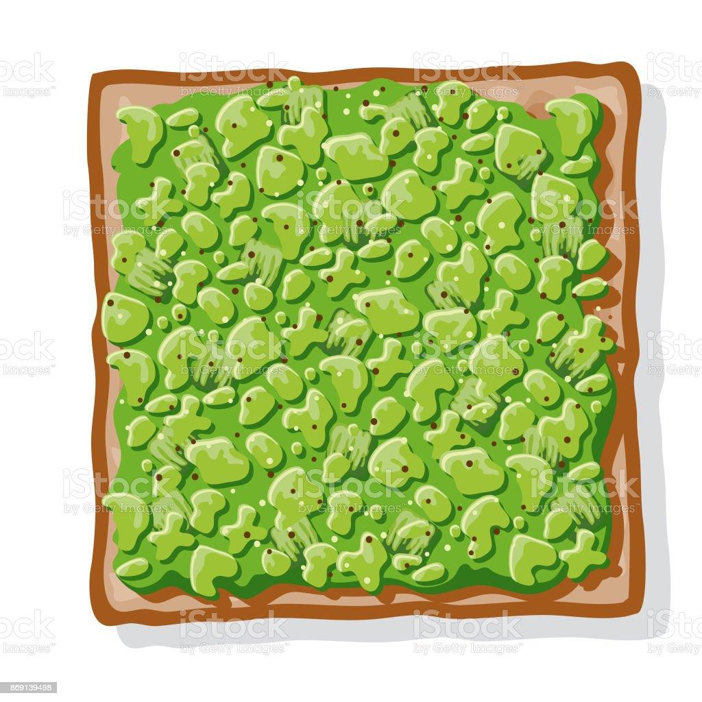 Avocado Toast vector art illustration