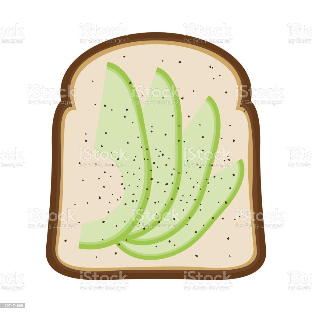 Avocado Toast Vector Illustration vector art illustration