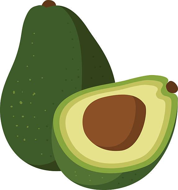 avocados A vector illustration of avocados. avocado stock illustrations