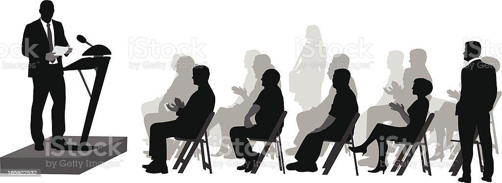 Awaited Speech Vector Silhouette vector art illustration