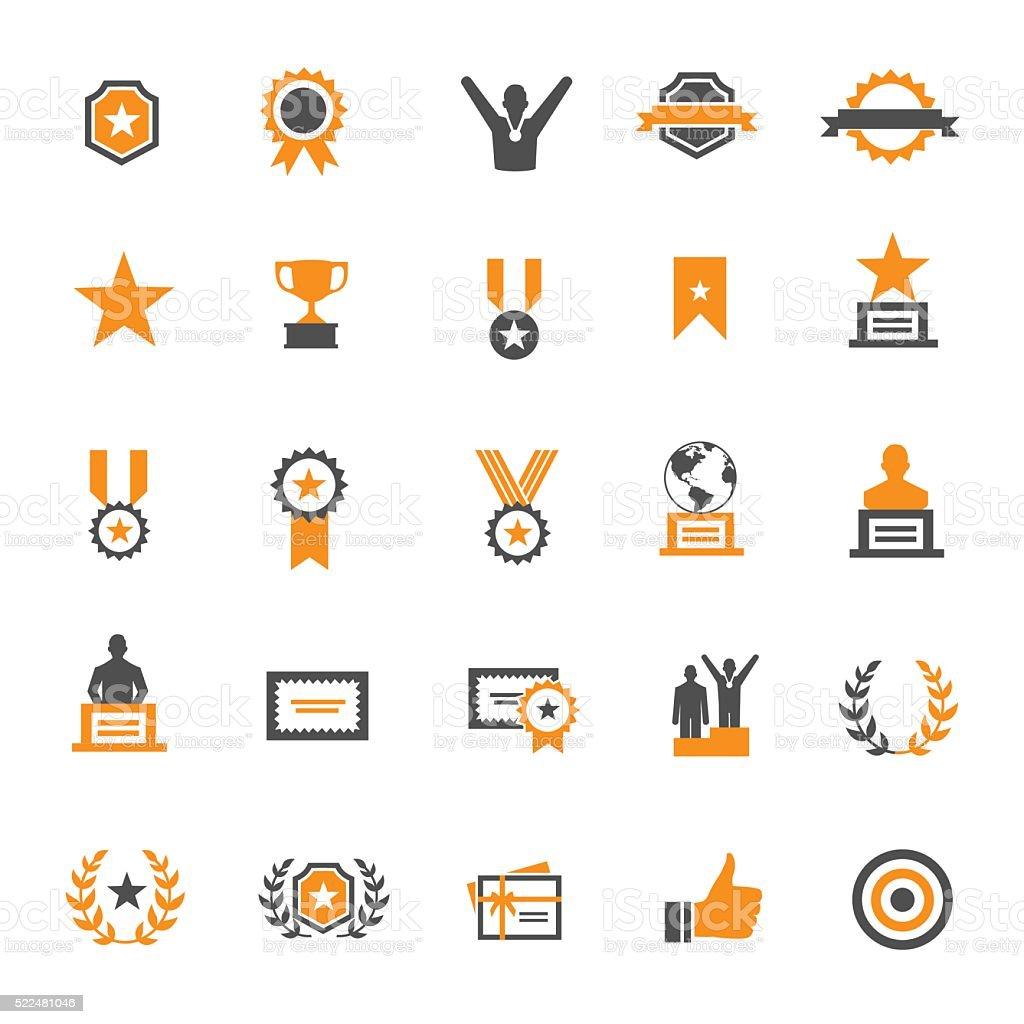 Preis und Ehre Symbol-Set – Vektorgrafik