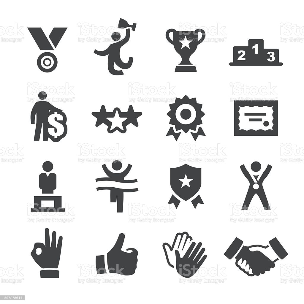 Award and Success Icons - Acme Series vector art illustration