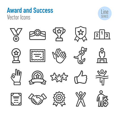 Award and Success Icons - Vector Line Series