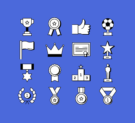 Award and Success Related Icons Vector Collection. Modern Style Symbol Vector Illustration