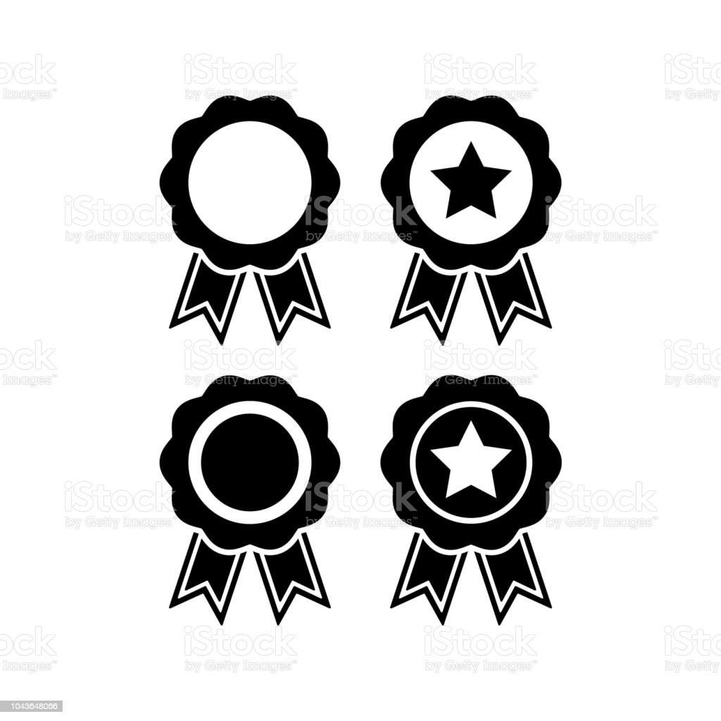 Award Badge Vector Medal Icon Set Certificate Stamp Seal Badge With