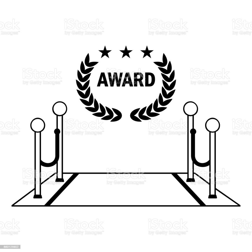 award black icon vector art illustration
