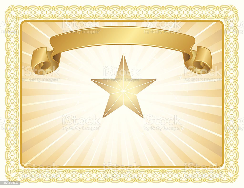 Award Certificate All-Star - Sports, Education or Business Background royalty-free stock vector art
