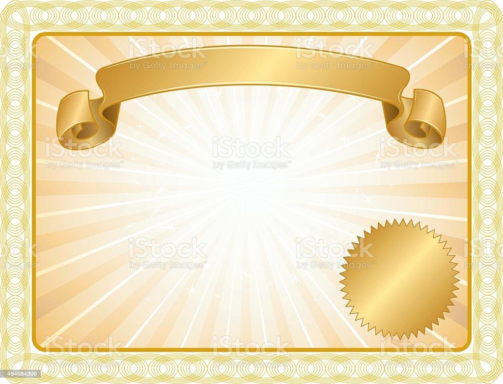 Award Certificate Background Success Stock Vector Art ...