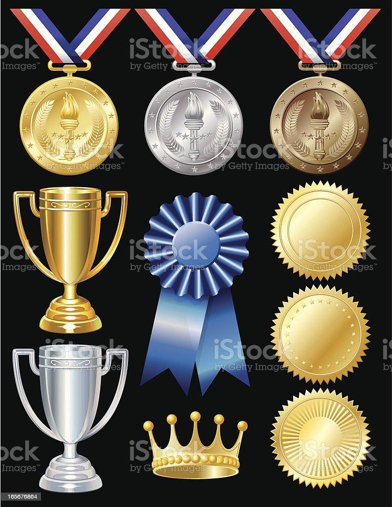Award Elements royalty-free stock vector art