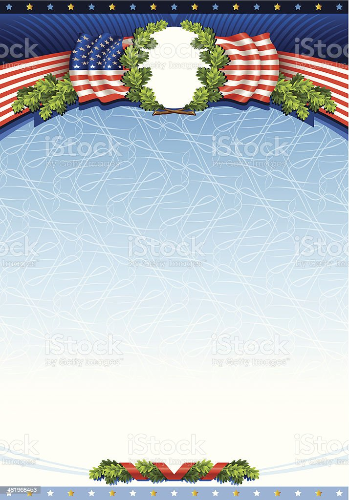 Award from the American flag royalty-free stock vector art
