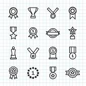 Award Icon Hand Drawn Series Vector EPS File.