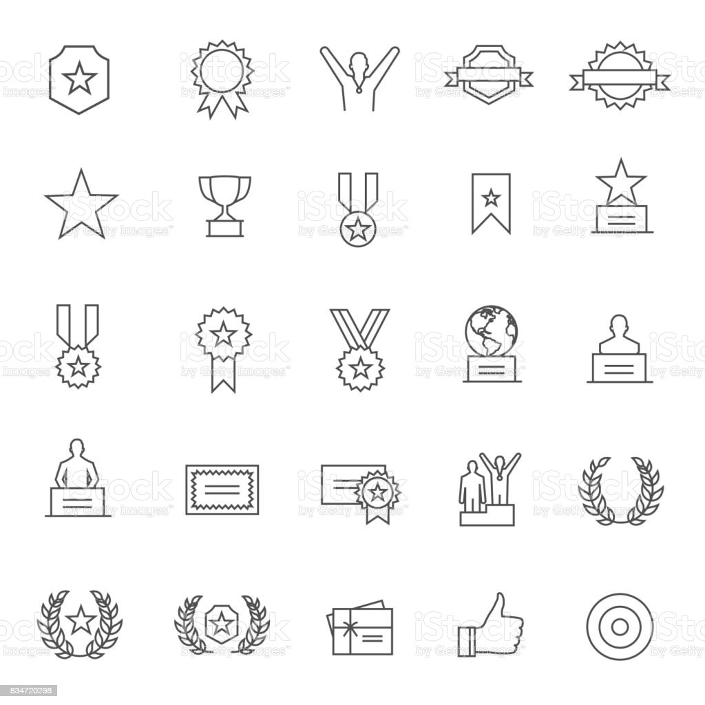 Award Icon vector art illustration