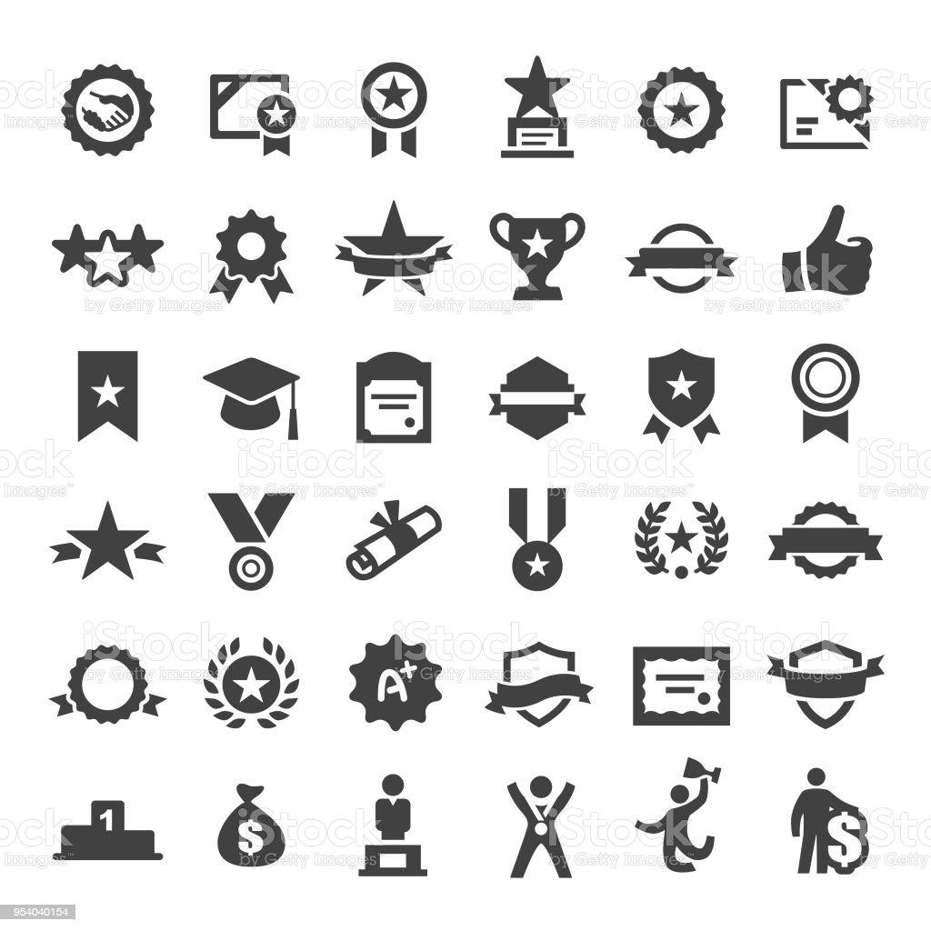 Award Icons - Big Series vector art illustration