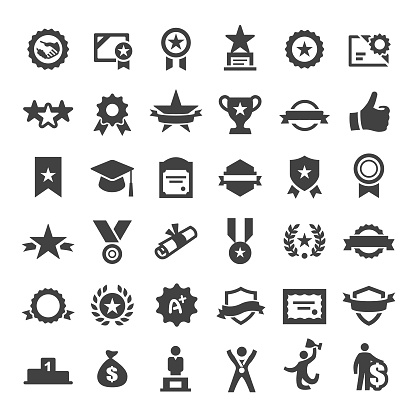 Award Icons Big Series - Stockowe grafiki wektorowe i więcej obrazów Baner