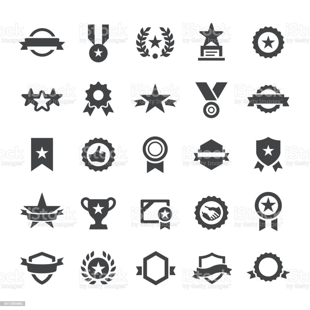 Award Icons - Smart Series vector art illustration
