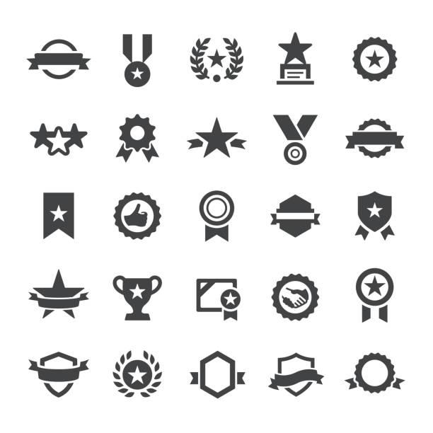 Award Icons - Smart Series vector art illustration