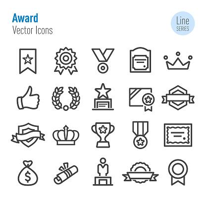 Award Icons - Vector Line Series