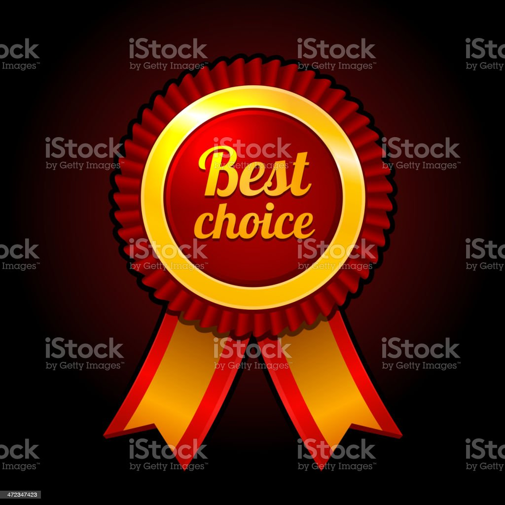 Award label Best choice with ribbons Vector royalty-free stock vector art