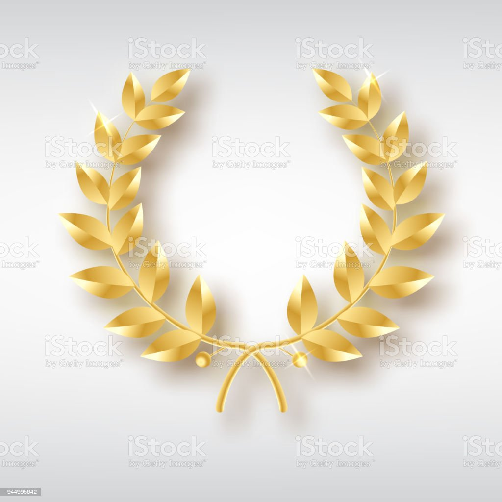 Award Laurel Symbol Of Victory And Achievement Design Element For