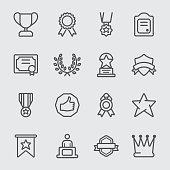 Award line icon