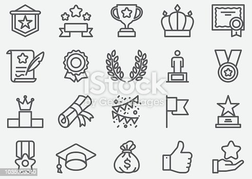 Award Line Icons
