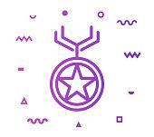 Award Line Style Icon Design