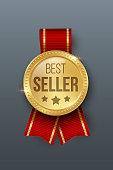 Award medal 3d realistic vector color illustration