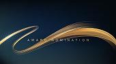 istock Award nomination ceremony luxury background with golden glitter sparkles 1285590005
