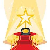 award on red carpet