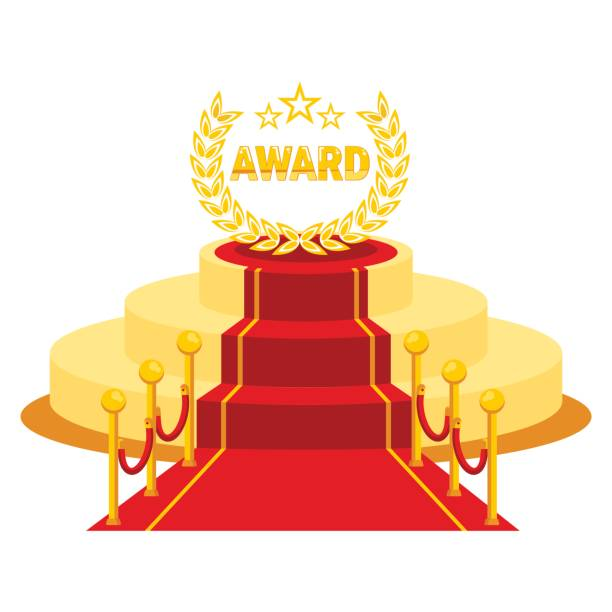 award red carpet - oscars stock illustrations, clip art, cartoons, & icons