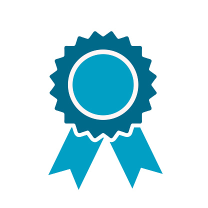 Award Ribbon Icon on white, stock vector illustration