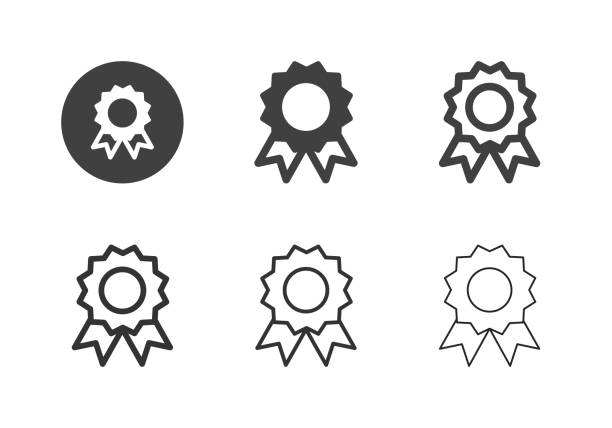 Award Ribbon Icons - Multi Series vector art illustration