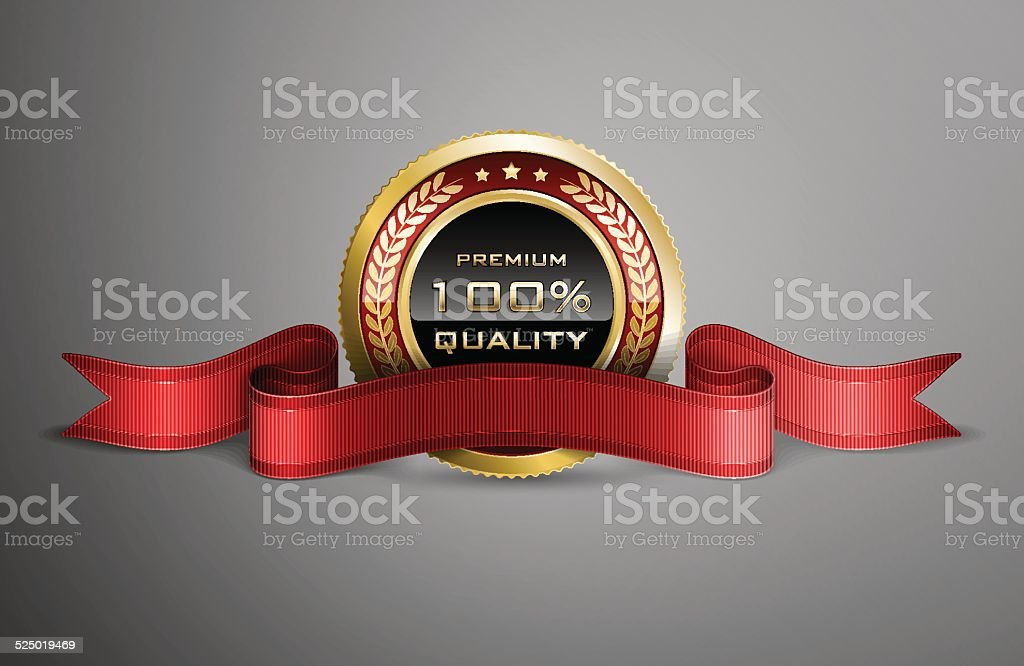 Award ribbon vector art illustration
